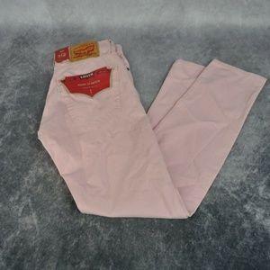 Levis Mens 512 Slim Taper Pink Jeans